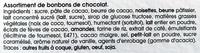 Assortiment Suisse Noir - Ingrediënten