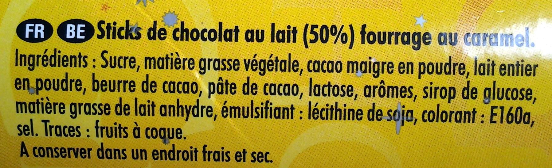 Fins Plaisirs Caramel - Ingredients - fr