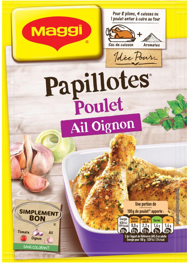 Papillotes Poulet Ail Oignon - Product - fr