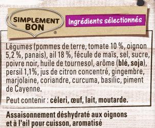 Papillotes Poulet Ail Oignon - Ingrediënten - fr