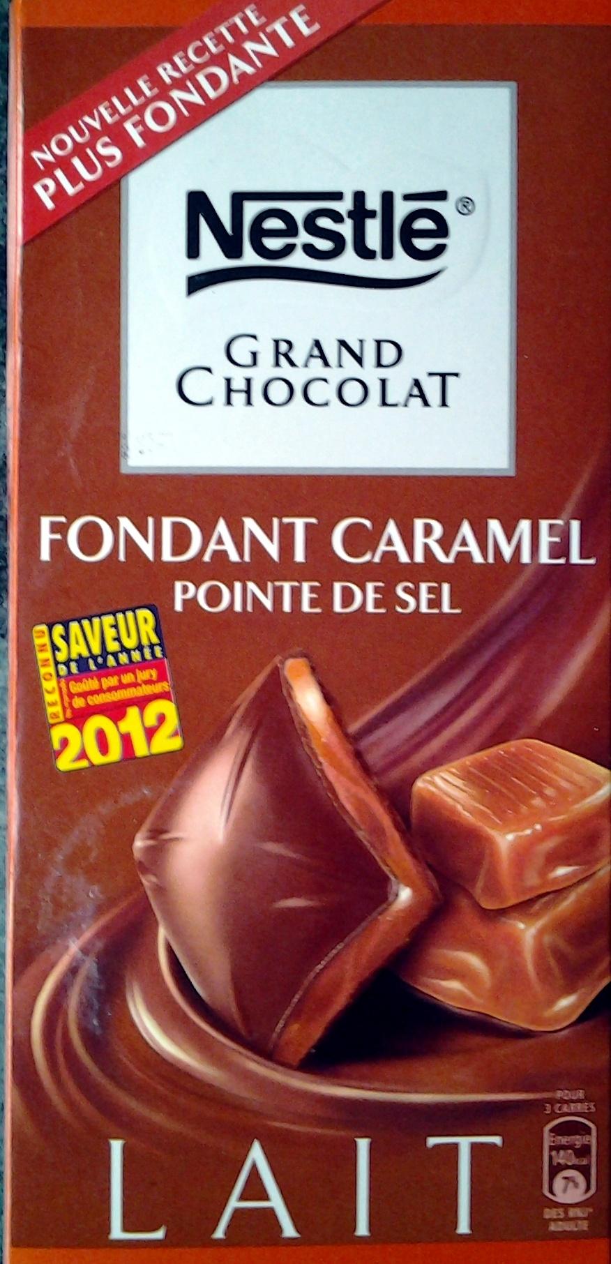 Fondant Caramel Pointe de sel - Product - fr