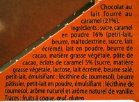 Fondant Caramel Pointe de sel - Ingredients - fr