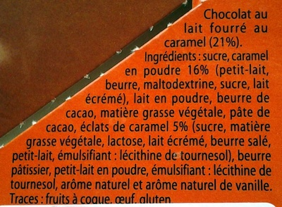 Fondant Caramel Pointe de sel - Ingredients