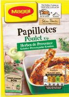 Papillotes Poulet et aux herbes de Provence - Produit