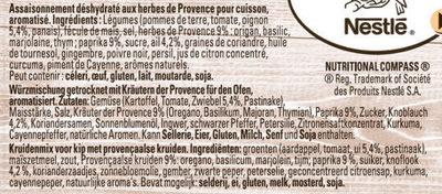 Papillotes Poulet et aux herbes de Provence - Ingrediënten
