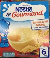 P'tit Gourmand Semoule au lait biscuitée - Prodotto - fr
