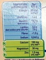 P'tit Gourmand Semoule au lait biscuitée - Valori nutrizionali - fr