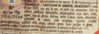 Saucisson de Jambon - Ingrediënten - fr