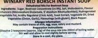 BARSZCZ CZERWONY INSTANT - Ingredients