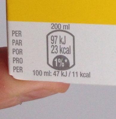 Nestea lemon - Voedigswaarden