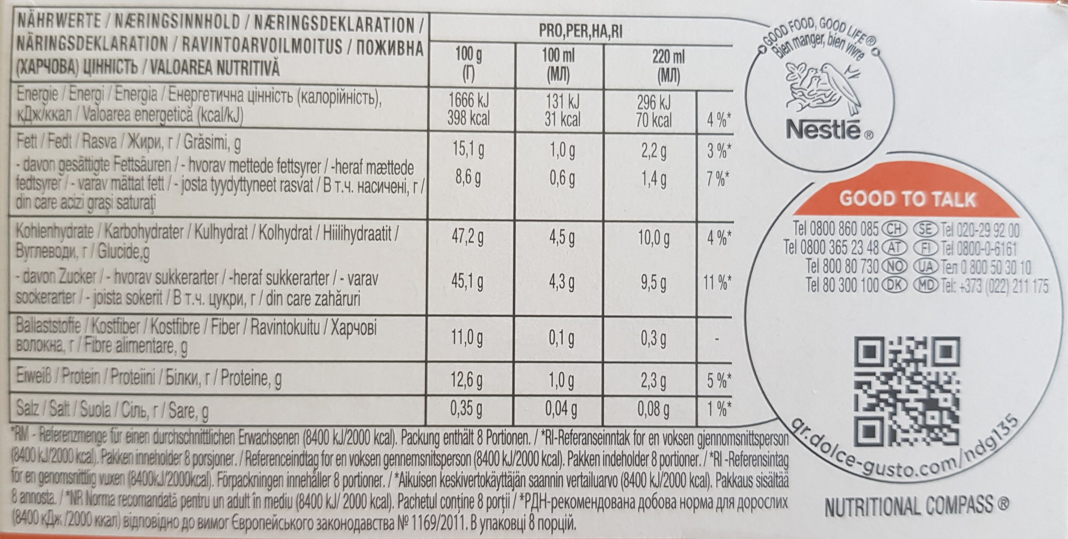 D.gus Latt Macc Caramel Nescafe - Nutrition facts - fr