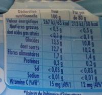 P'tit Pot Les mini Pommes - Nutrition facts - fr