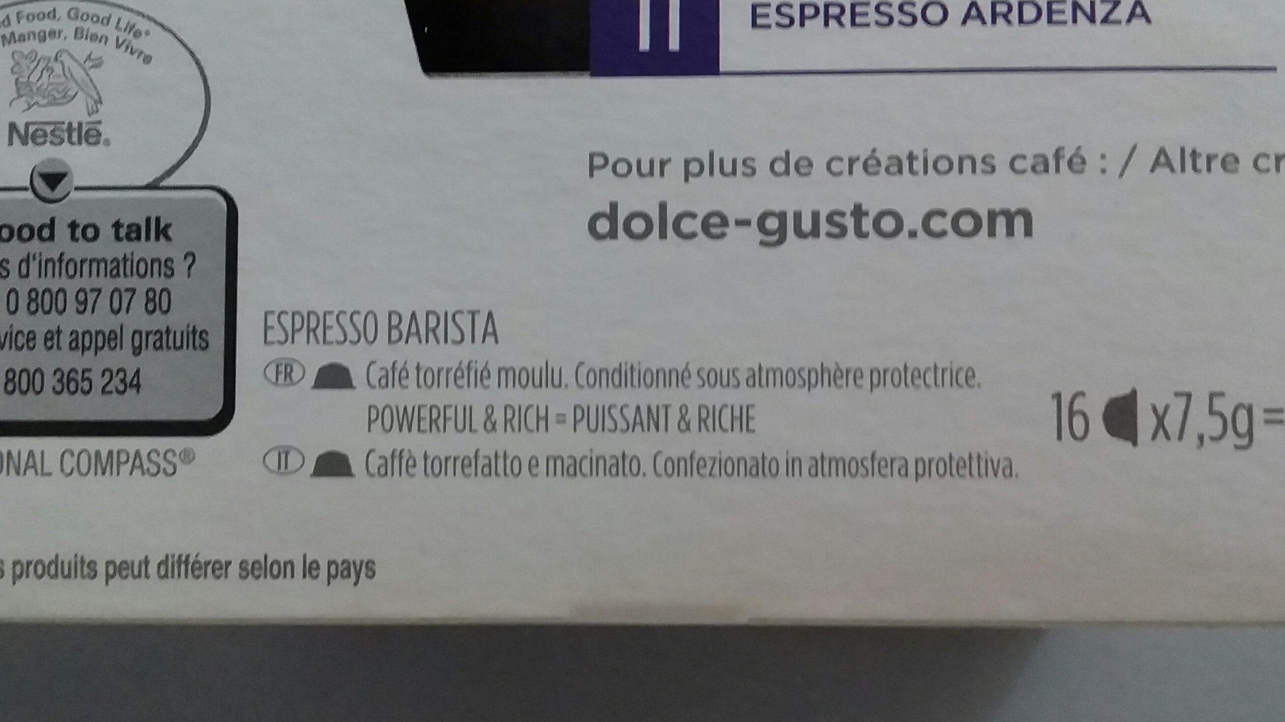 Barista - Ingredients - fr