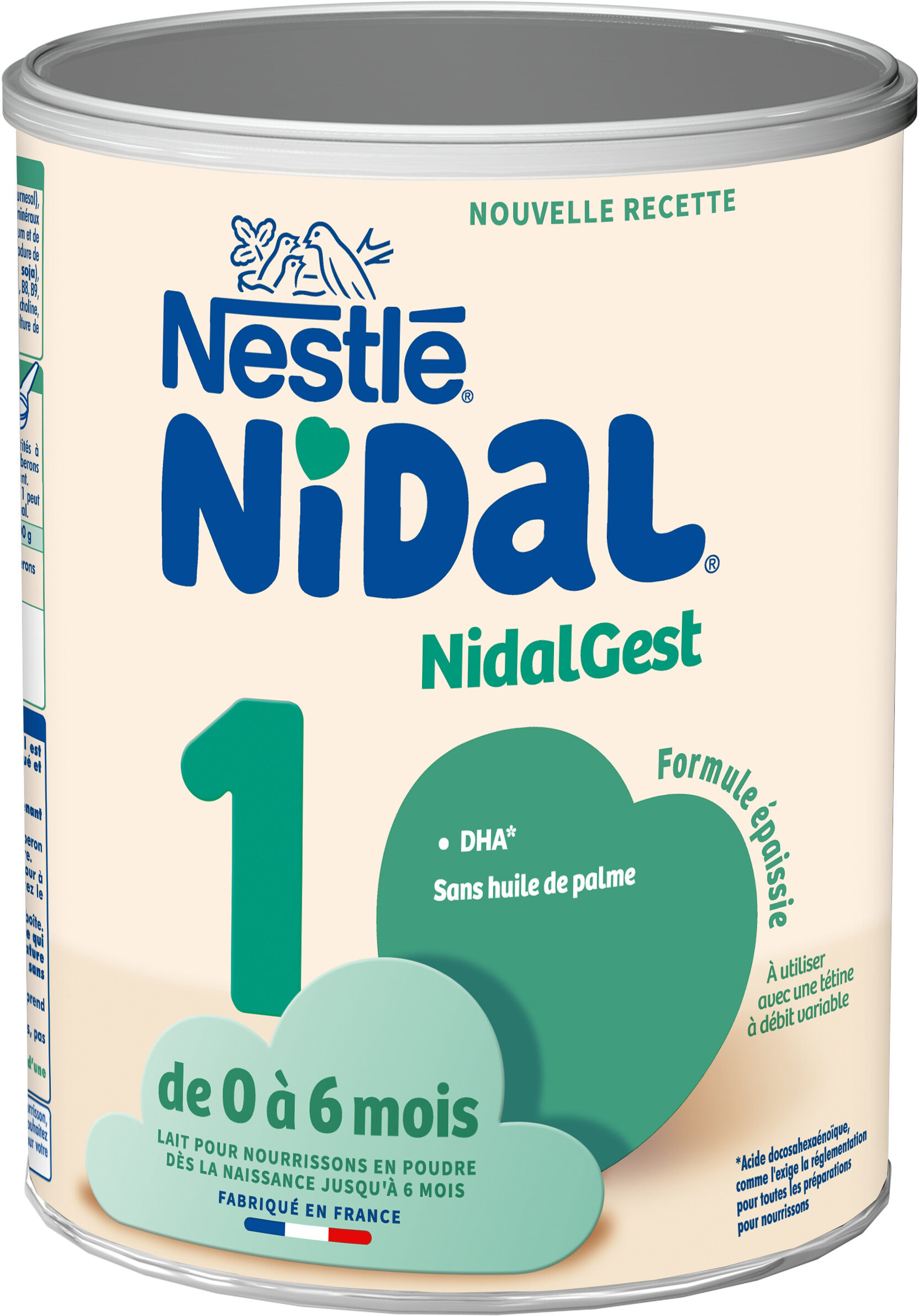 NESTLE NIDAL NidalGest 1 Lait pour nourrissons 1er âge 800g dès la Naissance - Product - fr