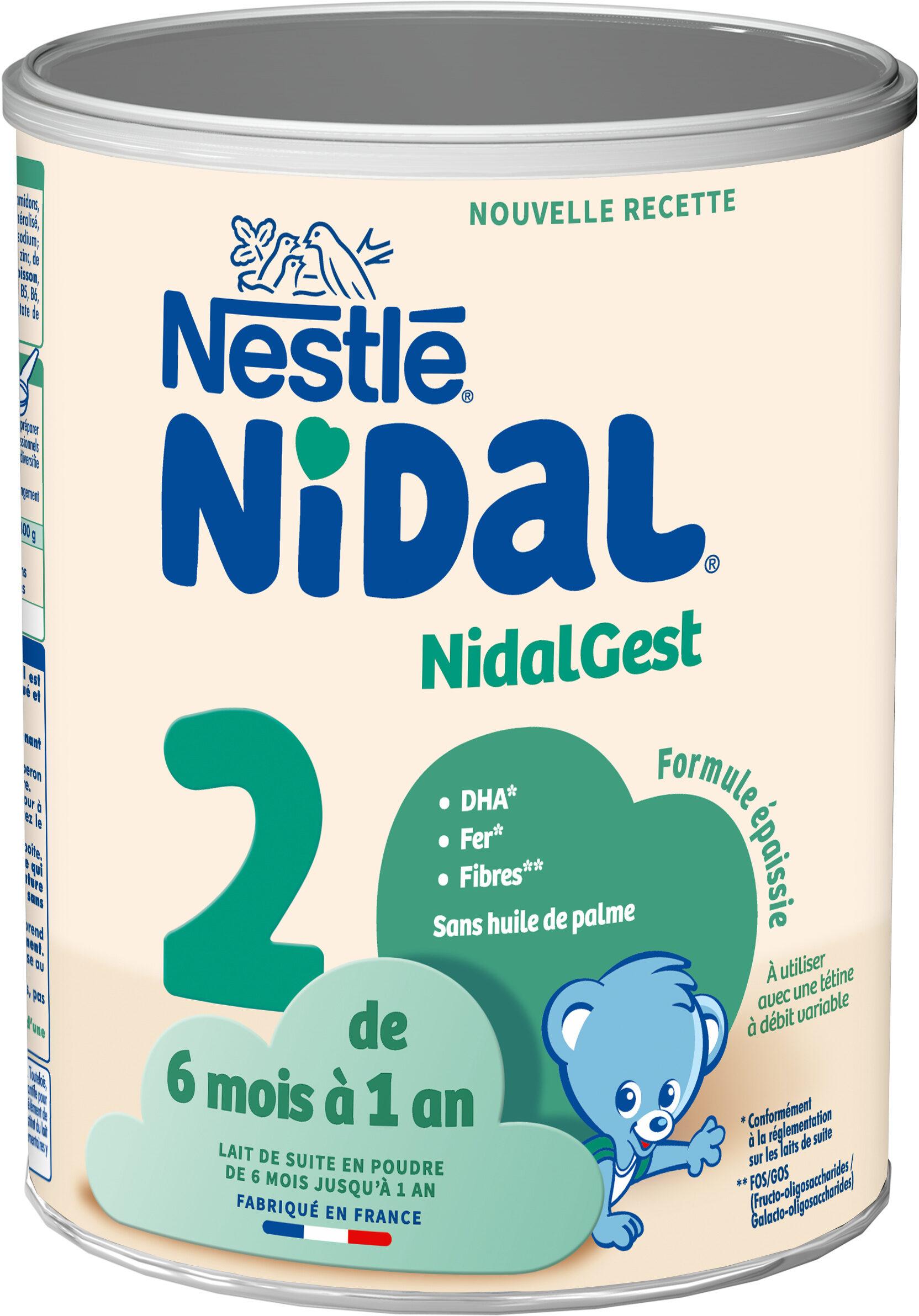NESTLE NIDAL NidalGest 2 Lait de suite 2ème âge 800g dès 6 mois - Product - fr