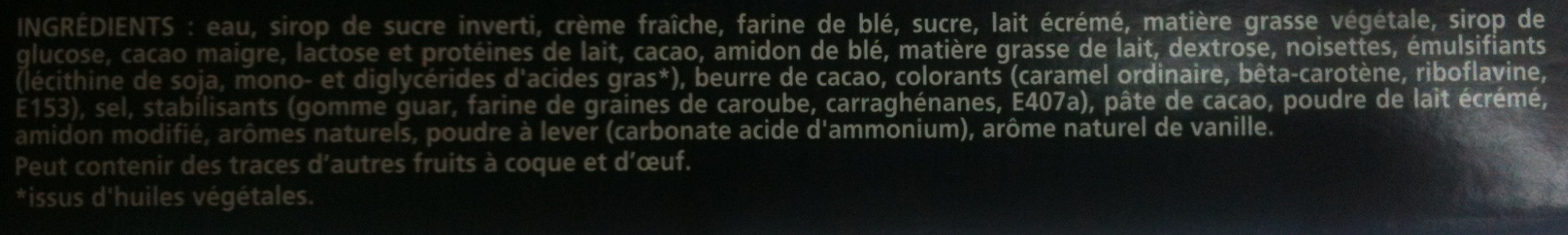 Nestlé - eXtrême - Chocolate Brownie - Ingrédients