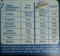 Nestlé - eXtrême - Chocolate Brownie - Informations nutritionnelles