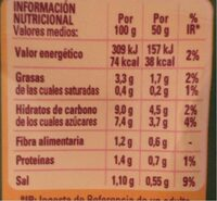 Tomate frito - Nutrition facts - es