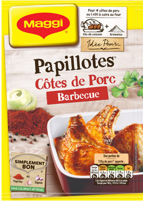 Papillotes Côtes de Porc Barbecue - Product - fr