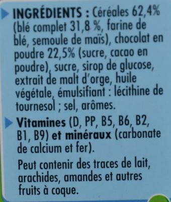 Chocapic (nouvelle recette) - Ingrédients