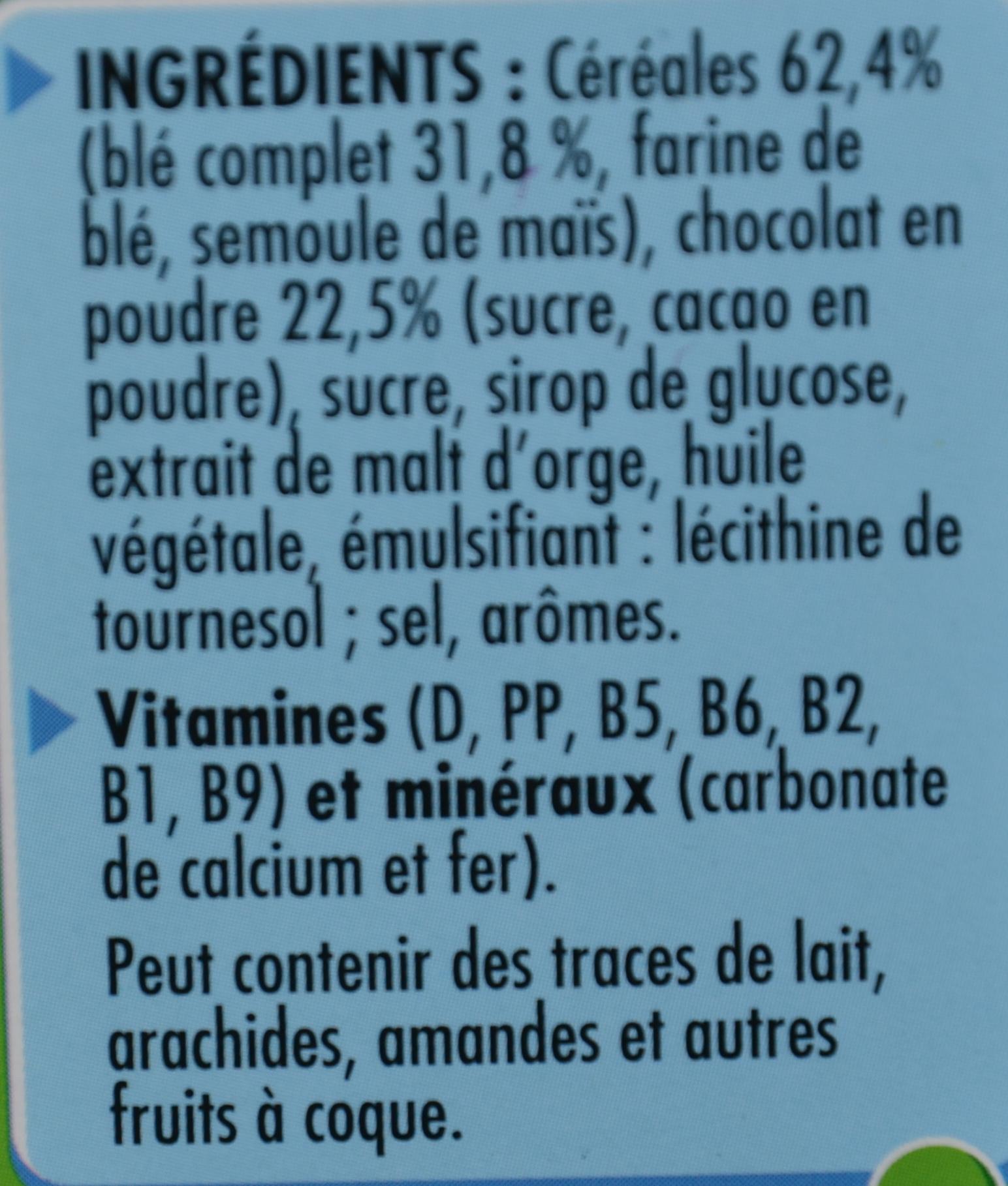 Chocapic (nouvelle recette) - Ingredientes