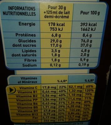 Chocapic (nouvelle recette) - Informations nutritionnelles