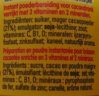 Nestle Nesquik Mini Pack - Ingrediënten
