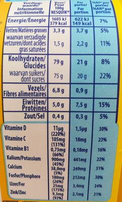 Nestle Nesquik Mini Pack - Voedingswaarden