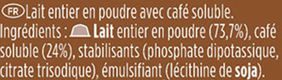 Dolce Gusto Café Au Lait - Ingredients - fr