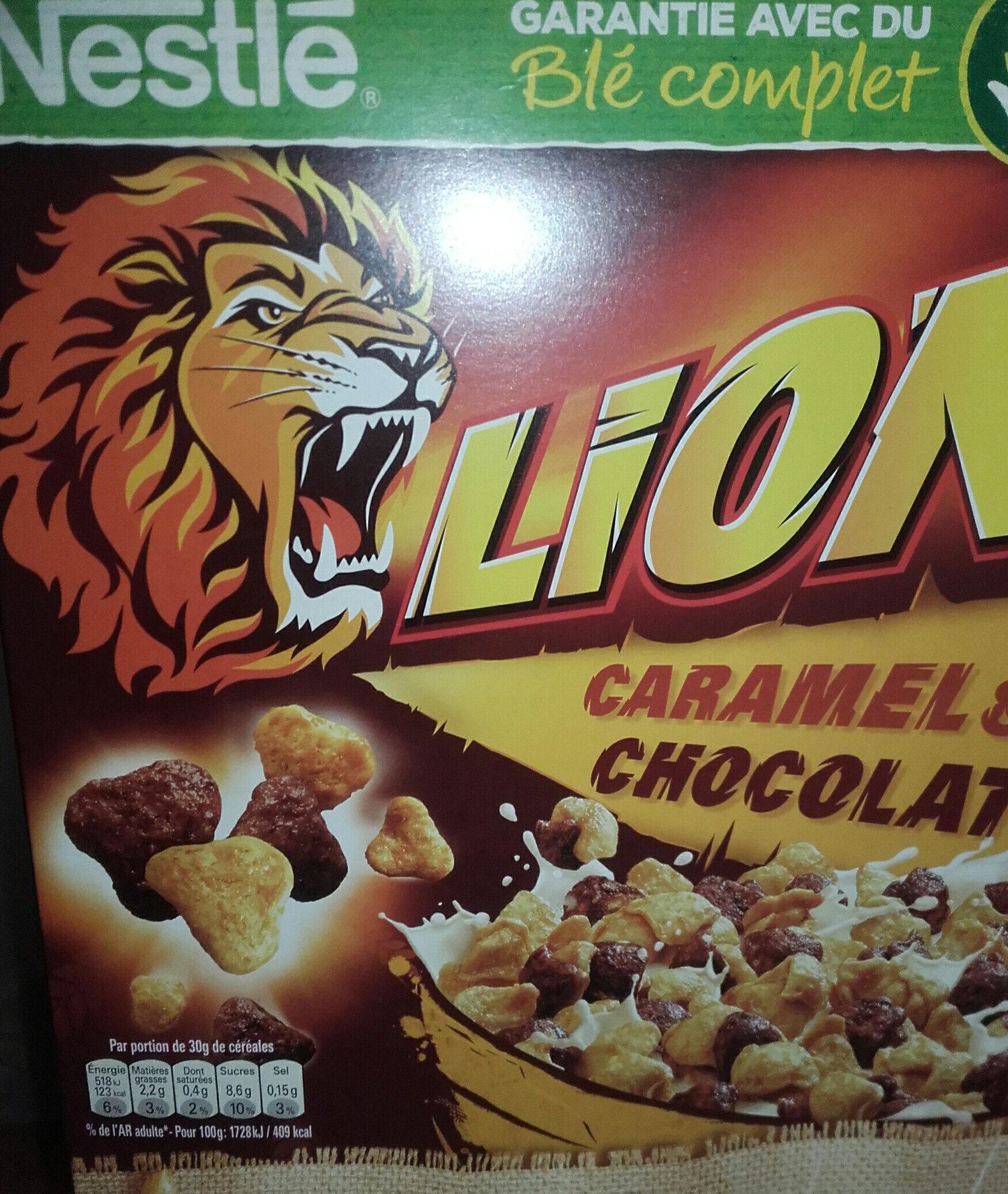 Lion caramel & chocolat - Produit - fr