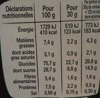Lion caramel & chocolat - Nutrition facts