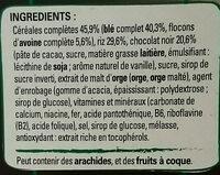 FITNESS Céréales chocolat noir - Ingrédients - fr