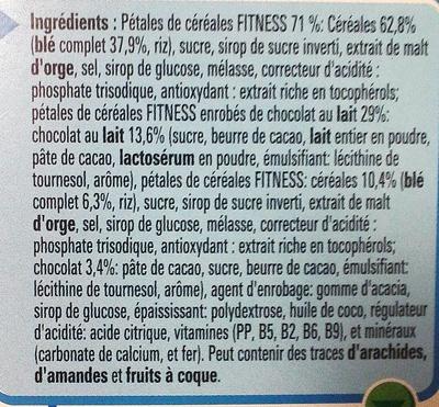 Fitness Chocolat au lait - Informations nutritionnelles