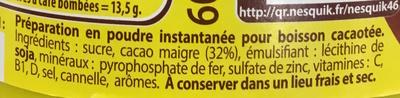 Nesquik goût Extra Choco - Ingredients