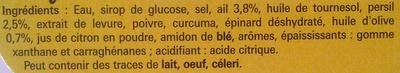 Coeur de bouillon Ail-Persil - Ingrediënten - fr