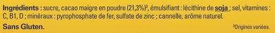 NESQUIK Poudre Cacaotée boîte 1,3kg - Ingredienti - fr