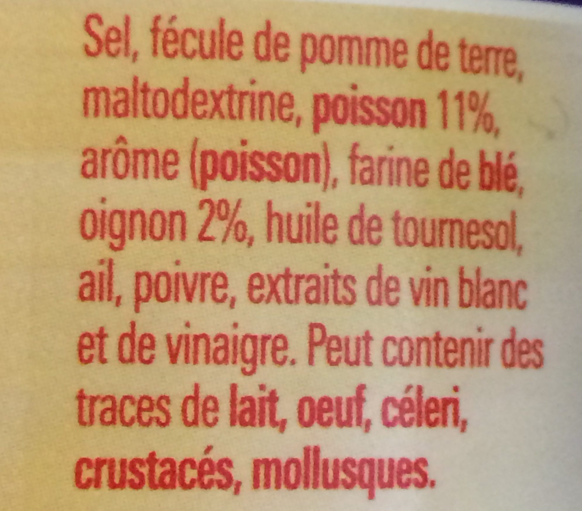 Fumet de Poisson - Ingredients