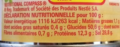 Fumet de Poisson - Nutrition facts