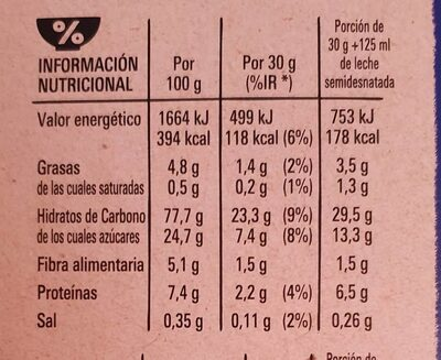 Estrellitas - Informació nutricional - es