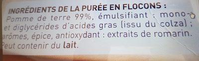 Purée Mousline (format familial) - Ingrediënten