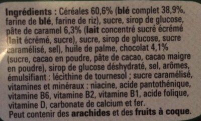 Céréales Lion - Caramel & Chocolat - Ingrédients