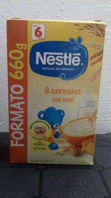 Nestlé papilla 8 cereales con miel