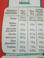 Chokella - Informations nutritionnelles - fr