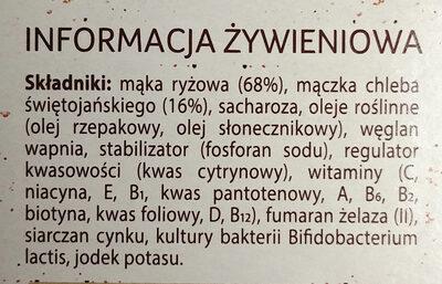 Bezglutenowy produkt zbożowy. - Składniki - pl