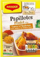 Papillotes Poulet Curry à l'indienne - Product - fr