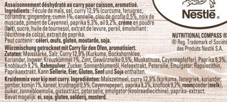 Papillotes Poulet Curry à l'indienne - Ingrediënten - fr