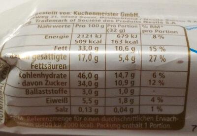 Yes Cacao - Nährwertangaben - de