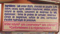 Ptit Gourmand Mini - Chocolat au lait, dès 6M - Ingrédients