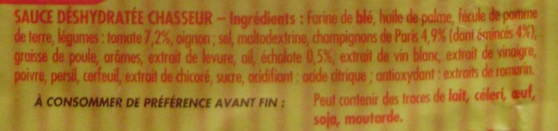 Sauce Chasseur - Ingrédients - fr