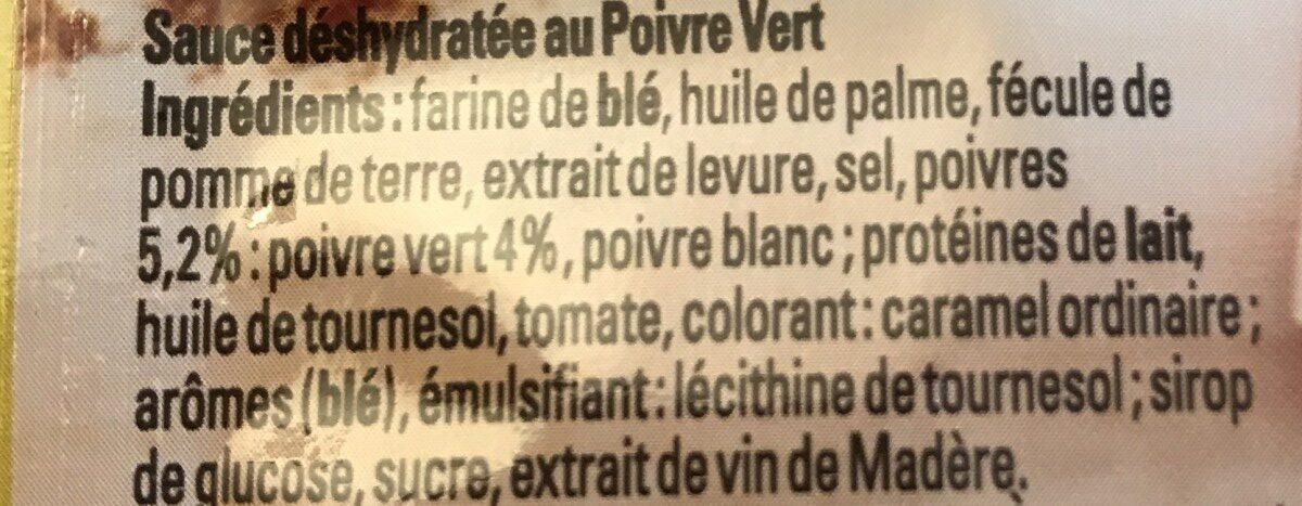 Sauce Poivre Vert - Ingrediënten